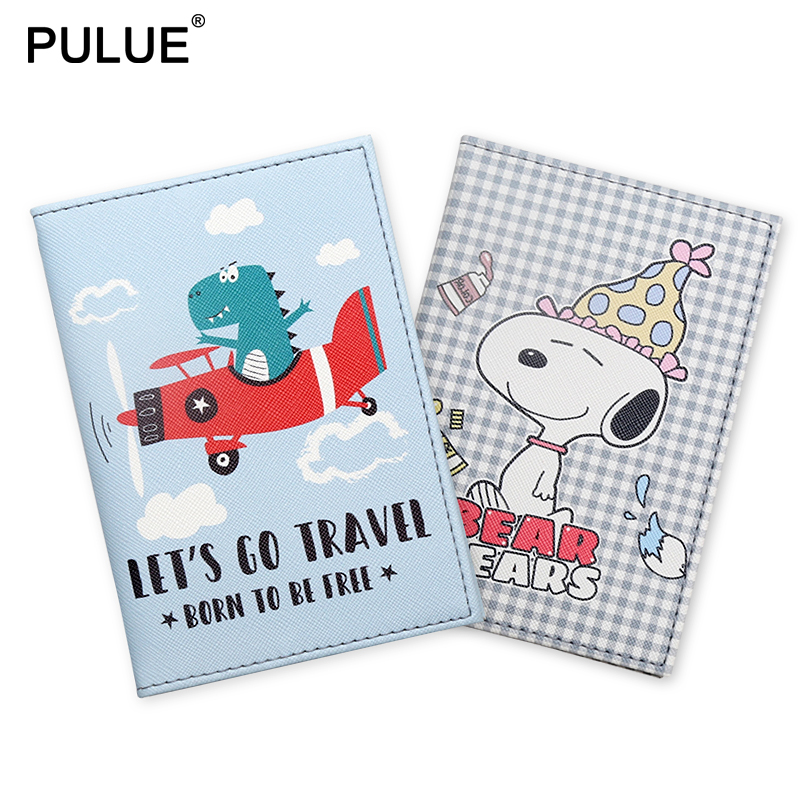 New Kawaii Cartoon Pattern Passport Cover Child Students Air Ticket Protect Passport Holder  Women Travel Abroad Id Card Holder