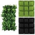 Вертикальный горшок для настенного сада, нетканые материалы, настенные Висячие мешки для посадки, карманы, зеленые настенные мешки, вертика...