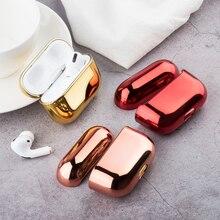 Chapeamento colorido casos de fone de ouvido para airpods 2 1 vagens ar pro disco caso do fone de ouvido para airpods pro airpods capa protetora