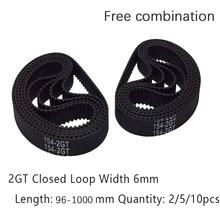 GT2 Timing Belt 98-1000mm Length Width 6mm Free Combination 3D Printer Belt GT2 Closed Loop Rubber 2GT Timing Belt Free Shipping free shipping classical wrapped v belt b2769 b2794 b2819 b2845 b2870 li industry black rubber b type vee v belt