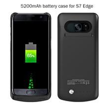 새로운 4200mAh S7 / 5200mAh S7edge 백업 삼성 S7 S7 가장자리 백업 전원 은행 충전기 케이스 커버에 대 한 외부 배터리 충전기 케이스