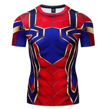 Spiderman Batman Iron Man Superman Captain America Winter Soldier T Shirt Avengers Costume Comics Superhero Mens gym