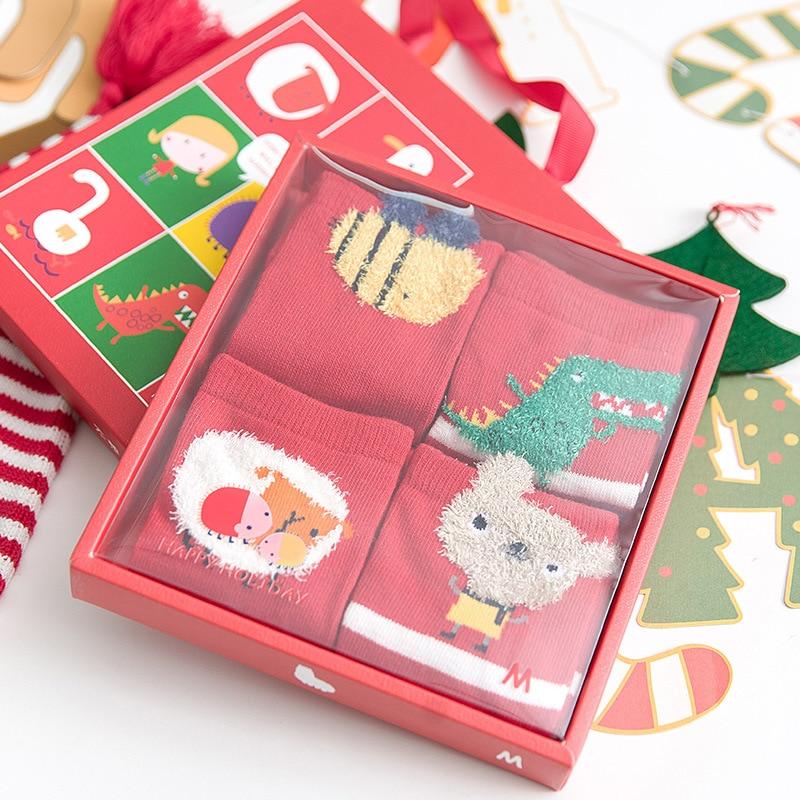 OLE Children Christmas Red Calzini New Year Calzini Gift Box Holiday Christmas Sukat