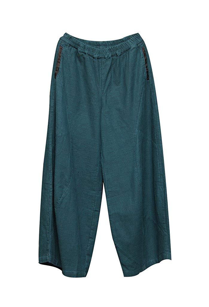 10 Pieces   Women's  Linen Pants Solid Color Long Pants Overalls  Straight2019 Harem Pants  Cargo Pants