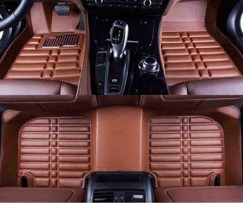 Custom car floor mat for Porsche Cayman Macan panamera Cayenne Boxster 718 floor mat car accessories car styling black coffee