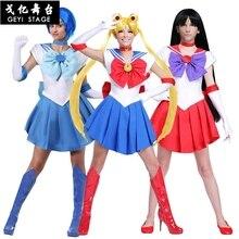 Anime nuevo hermoso soldado sailor moon mars anime japonés cosplay girl costume Halloween vestido de fiesta vestimenta de fantasía completa
