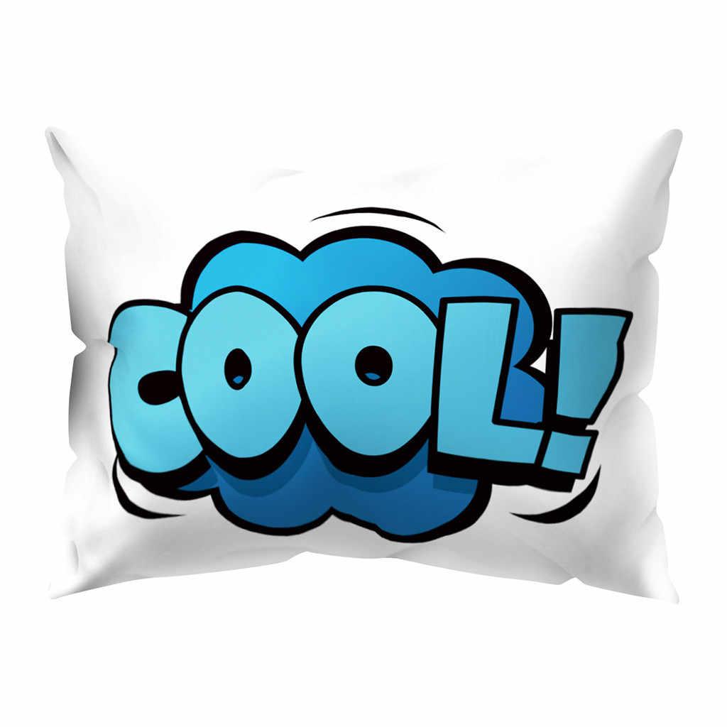 2019 Новая повседневная говорящая мягкая персиковая кожа подушка, подушка крышка 30x50 см домашний Декор # jink