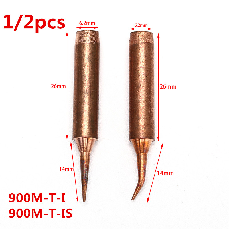 Replacement of the soldering iron tip Oxygen free copper 2 mm Tip width Welding tip 2C Gold