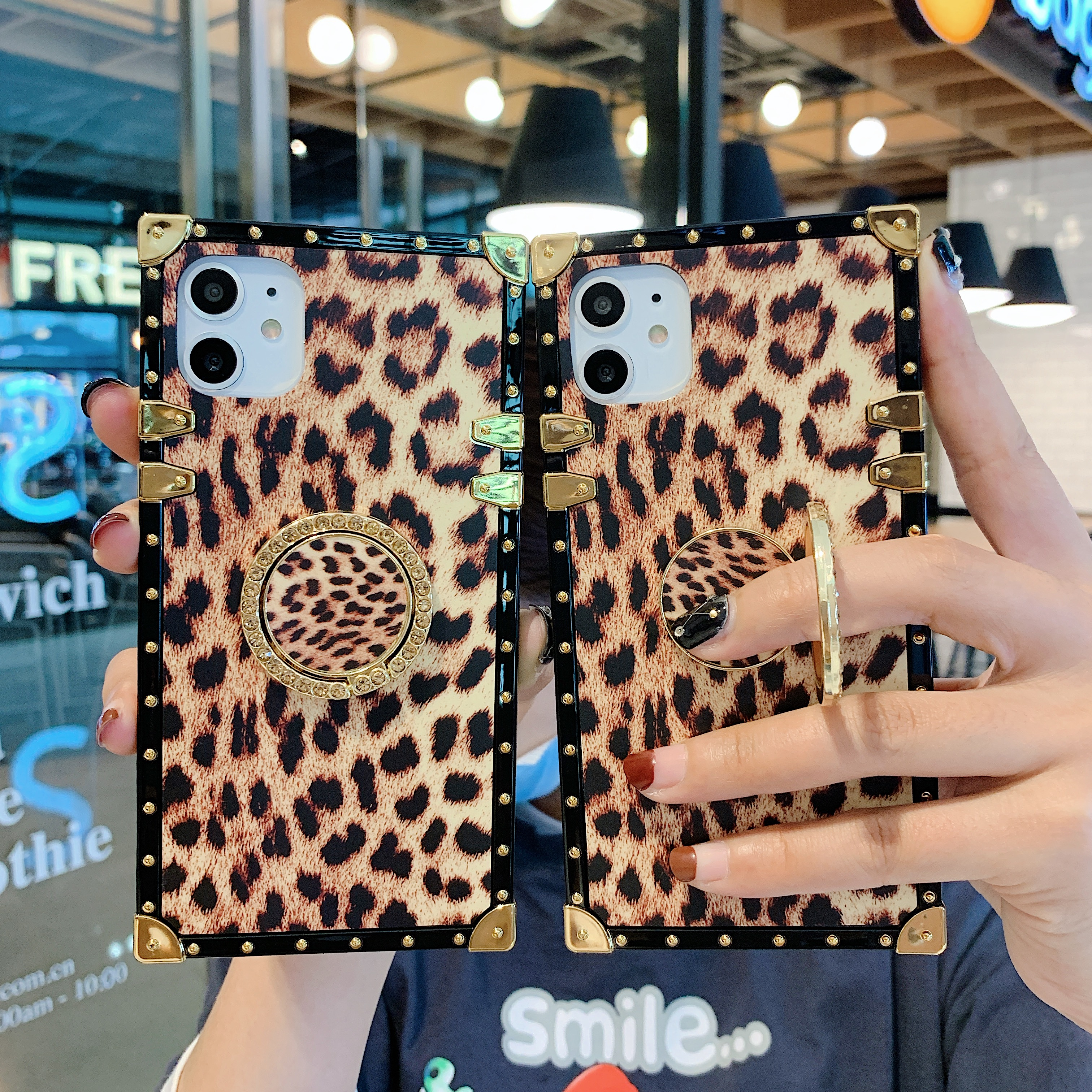 luxury sanke Leopard print <font><b>holder</b></font> <font><b>phone</b></font> <font><b>case</b></font> for <font><b>samsung</b></font> galaxy S20ultra S8 <font><b>S9</b></font> S10 S20 plus note8 note9 note10 pro cover capa image