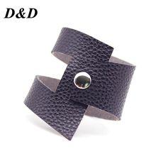 D&D Crack Leather Bracelets Women Fashion Vintage Bangles chakra bracelet jewelry handmade Jewellery Cool Wholesale