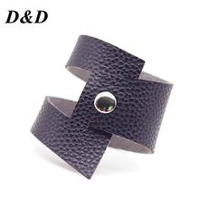 D&D Crack Leather Bracelets Women Fashion Vintage Bangles chakra bracelet jewelry handmade Leather Jewellery Cool Wholesale(China)