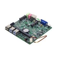 Intel Core i3-7100U Mini PC Motherboard Mit Kühler 6 * USB VGA HDMI Mini PCIE WiFi mSATA SATA DDR3L Gigabit LAN 12V 5A