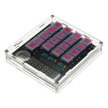 Diy Calculator Kit Digital Tube Calculator with Transparent Case Built in Cr2032 Button Cell(China)