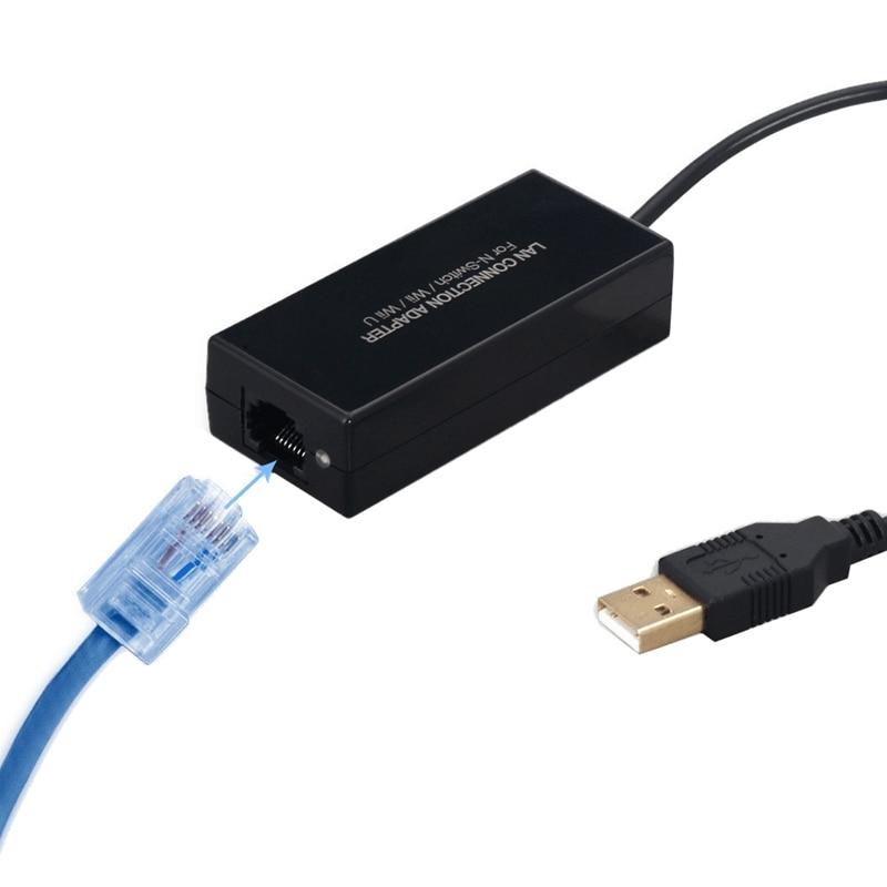 Адаптер для подключения Проводная сетевая карта USB Ethernet 100 Мбит/с(100 м) USB 2,0 для Kind NS для переключателя/для wii/для Wi-Fi IU консоли RJ