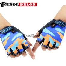 Fingerless Kids Gloves Non-Slip Ultrathin Children Half Finger Breathable For Boys Girls Luvas De inverno
