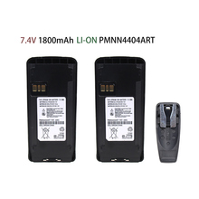 2 Pcs Battery for Motorola Walkie Talkie CP185/CP476/CP477/CP1300/CP1600/EP350/P140/P160/P180 (Li-on 1800mAh)