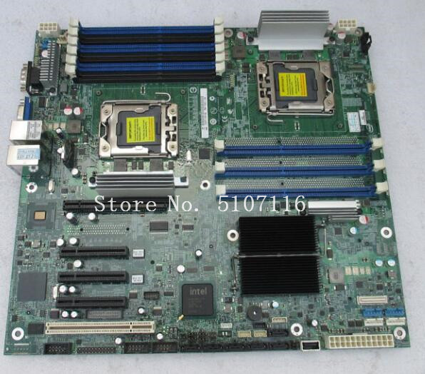High quality desktop <font><b>motherboard</b></font> for S5520HC <font><b>dual</b></font> <font><b>X58</b></font> 1366 pin server <font><b>motherboard</b></font> support C6100 X5675 will test before shipping image