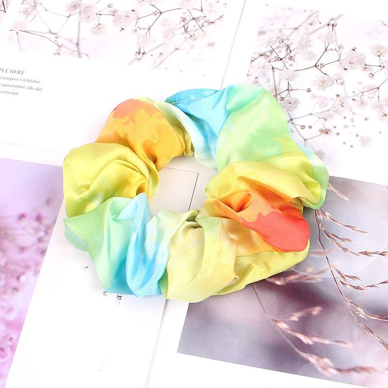 Корейский женский ободок для волос для девочек, полосатые женские резинки для волос, конский хвост, Женский держатель, веревка с ананасовым принтом, аксессуары для волос - Цвет: s3
