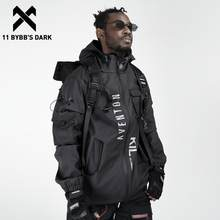 11 bybb's escuro multi bolsos jaquetas de carga homens blusão 2020 hip hop streetwear ao ar livre techwear jaquetas harajuku carga casacos