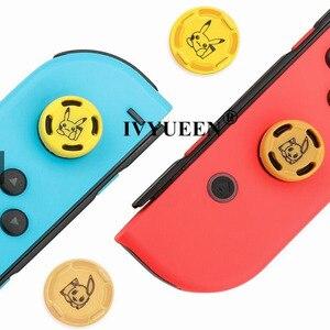 Image 4 - IVYUEEN 2 pcs for Nintendo Switch Lite Mini Joy Con Joy Con Animal Crossing Joystick Thumb Grip Cover Case Analog Stick Caps