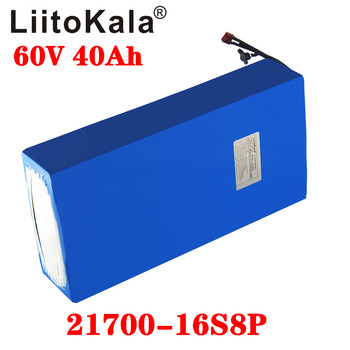 LiitoKala 60V 40ah electric scooter bateria 40AH Electric Bicycle Lithium Battery Scooter 1000W ebike battery