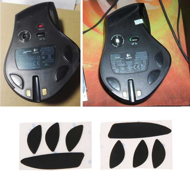 2 Set 0.6mm Thickness Replacement Mouse Feet Skates For Logitech MX Revolution
