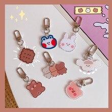 Ornament Cartoon Cute Kawaii Bear Pendant Rabbit Ins Backpack Pencil-Case Key-Buckle