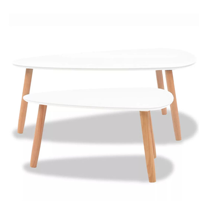 Big Sale Fb6b6 Vidaxzl 2 Pieces Set Coffee Table Solid Pinewood