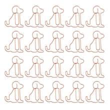 25 pçs clipes criativos adorável cão em forma de clipes de papel material de escritório