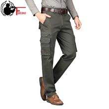 Брюки карго в стиле милитари, осень весна, армейские хлопковые мужские брюки с множеством карманов, тактические прямые рабочие брюки, мужские боевые джоггеры