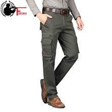Cargo Pants Military Style Autumn Spring Army Cotton Mens Many Pockets Tactical Straight Fit Work Trousers Male Combat Joggers