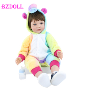 60CM silicone reborn baby boy doll like real vinyl toddler babies for girl realistic high-end collectible artwork dress up bebe(China)