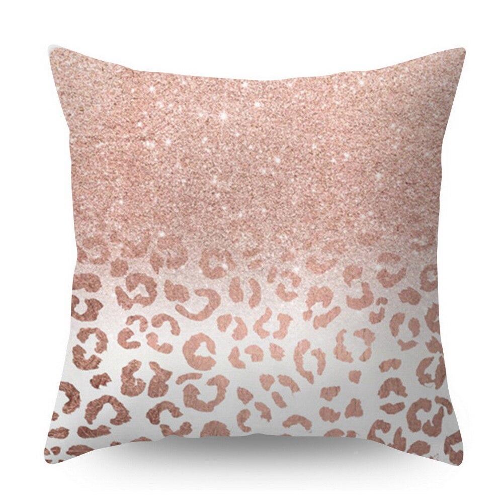 Розовое золото квадратная подушка крышка с геометрическим рисунком сказочной подушка чехол полиэстер декоративная наволочка для подушки для домашнего декора размером 45*45 см - Цвет: Серый