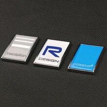 Polestar стикер 3D наклейка Polestar R-DESIGN с логотипом, крышка багажника, помеченная аксессуарами, вывеска из цинкового сплава, пригодная для Volvo