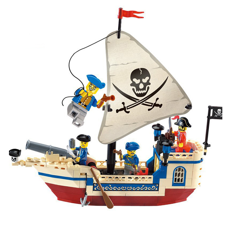 New Pirates Of The Caribbean Bounty Pirate Ship Legoinglys Enlighten Model Building Blocks Bricks Toys Christmas Gift Ed Toys