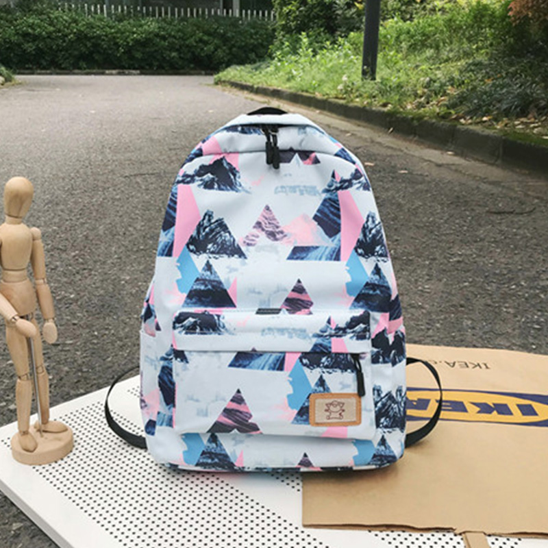 New Nylon Backpacks Wild Print Student Bags Large Capacity Outdoor Backpacks in Backpacks from Luggage Bags