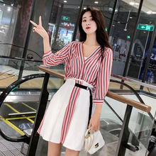 New women clothes 2019 Spring and summer new style Chiffon dress two-piece suit Temperament playful
