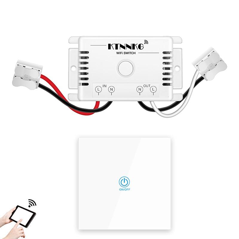 ktnnkg 433mhz ac90 250v smart life app control wifi switch