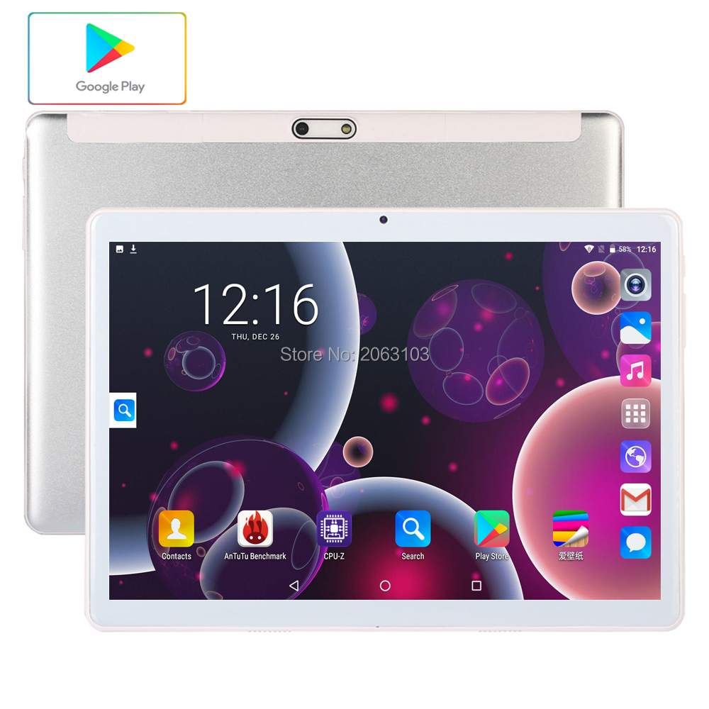Free Shipping Android 7.0 Tablet PC Tab Pad 10 Inch IPS 4 Core 96GB ROM Dual SIM Card LTD Phone Call 10.1