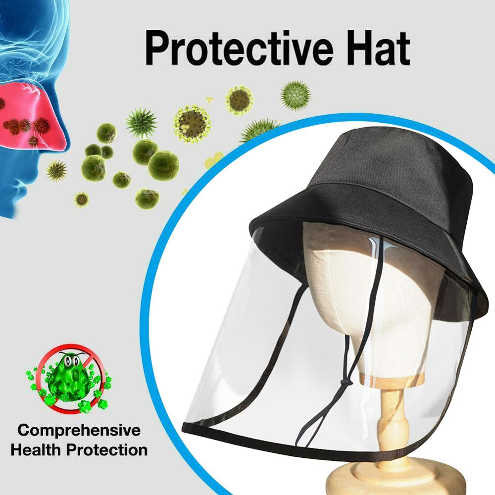 Anti-Saliva Droplets Hat,Unisex Protective Hat,Eye Protection,Isolation Hood To Protect The Whole Face