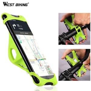 WEST BIKING Bike Phone Holder For iPhone Samsung Universal Mobile Cell Phone Holder Bike Handlebar Clip Stand GPS Mount Bracket(China)