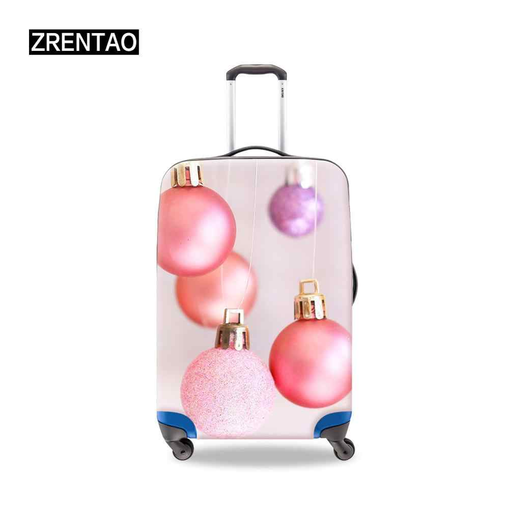 Red/Pink High Quality Zipper Suitcase Set Protective Covers Christmas Day Gifts For Men Women Traveling Baggage Protector S/M/L