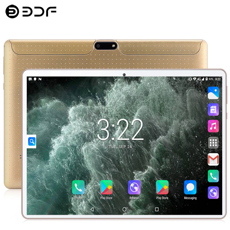New System 10.1- Inch Tablets PC 3G/4G Phone Call 4GB RAM 64GB ROM Android 7.0 Double SIM Card Octa Core IPS Wi-Fi Tablet PC