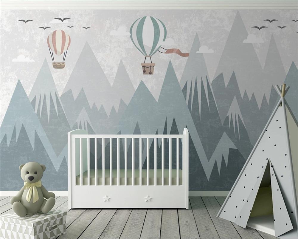 Beibehang Custom Balloon Children's Room Background Decorative Painting Modern Minimalist Geometric Wallpaper Papier Peint