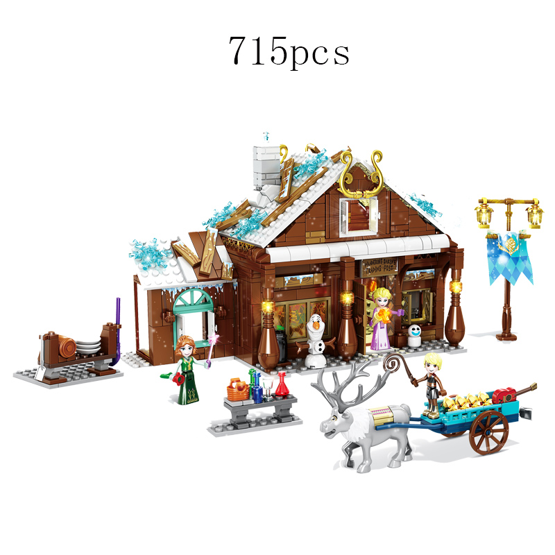 Ice And Snow Bricks Frozeninglys Grocery Store Compatible Legoinglys Frozenlinglys Friends Building Blocks Toys Children Gift
