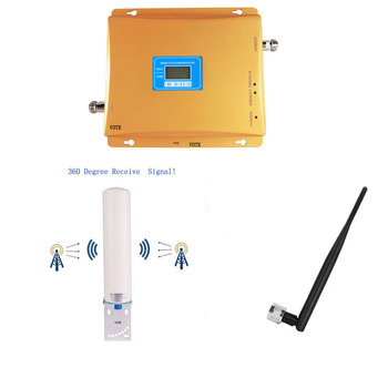VOTK GSM DCS DUAL BAND SIGNAL BOOSTER MOBILE 2G 4G 900 1800MHZ NETWORK REPEATER 4G SIGNAL AMPLIFIER WITH OMNI ANTENNA