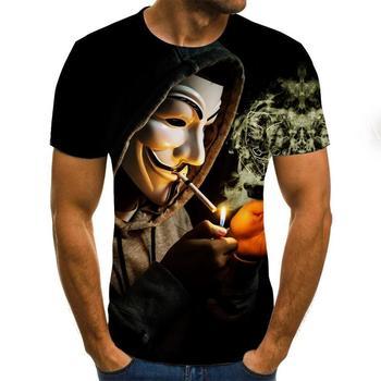 2020 gorąca sprzedaż Clown 3D drukowane z krótkim rękawem topy męskie damskie topy T-shirt koszule Street Trend t-shirty męskie damskie topy tanie i dobre opinie CN (pochodzenie) O-neck Tees Regular Suknem Poliester 3D styl