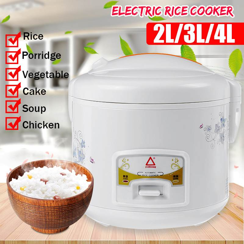 Multifunction Electric Rice Cooker 2/3/4L Alloy Cast Iron Heating Pressure Cooker Soup Cake Maker Home Kitchen Appliances