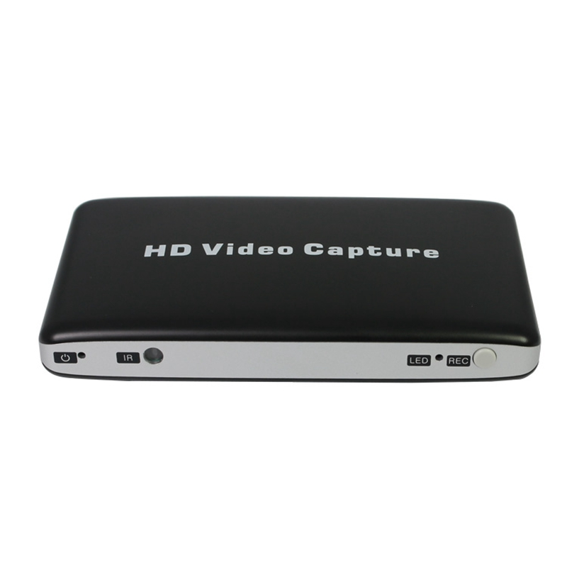 USB 1080P HD Video Capture HDMI HDD Game AV Video Capture Recorder + Remote Control Game Recording Support Video Playback(US Plu