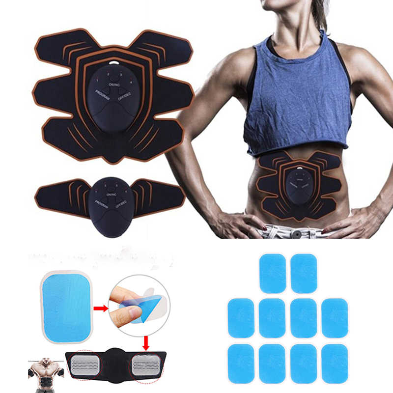 ABS Abdominal Simulator Trainer Hydrogel Gel Pads EMS Massager Practical
